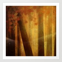 warm trees, summer breeze Art Print