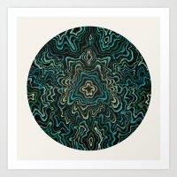 Intimate Portait in Green Art Print
