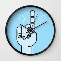 Finger Wag Wall Clock