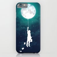 moon iPhone & iPod Cases featuring Burn the midnight oil  by Picomodi