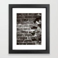 Brick House Framed Art Print