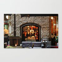 Restaurant Window Canvas Print