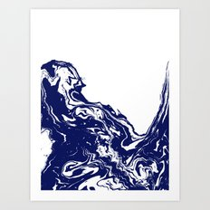 Indigo Wave Water Ocean … Art Print