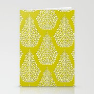 SPIRIT Lime White Stationery Cards