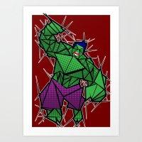 Abstract smash! Art Print