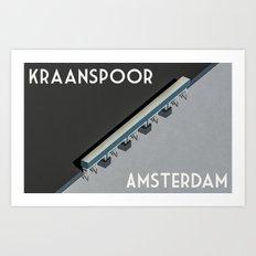 Kraanspoor Amsterdam Art Print