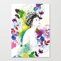 Bella Fashion Watercolor… Canvas Print