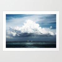 Island Clouds Art Print
