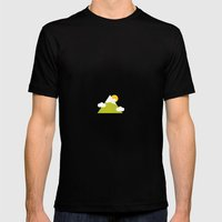 Minimal Mountain Mens Fitted Tee Black SMALL
