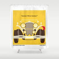 No206 My The Great Gatsby minimal movie poster Shower Curtain