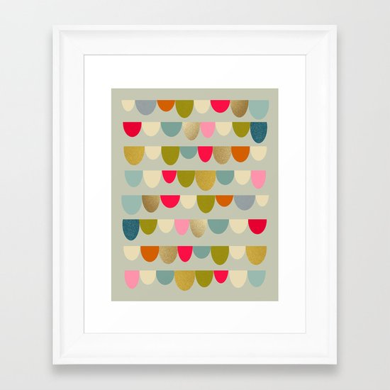 Delightful Rue Framed Art Print