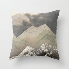 Geometric Sunrise Throw Pillow