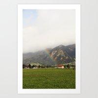 Rainbow In The Valley Art Print