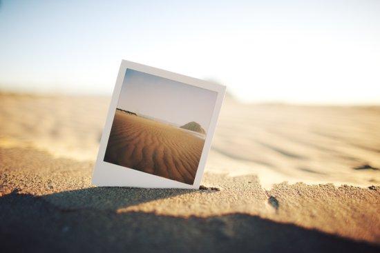 Morro Bay Polaroid Canvas Print