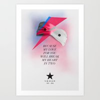 Blackstar (from Mars) Art Print