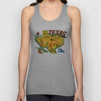 Postcard from Texas print Unisex Tank Top