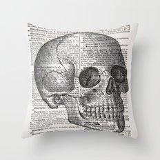 Latin Skull Throw Pillow