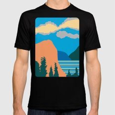 Mountains Mens Fitted Tee Black SMALL