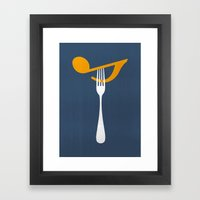 Hungry For Music Framed Art Print