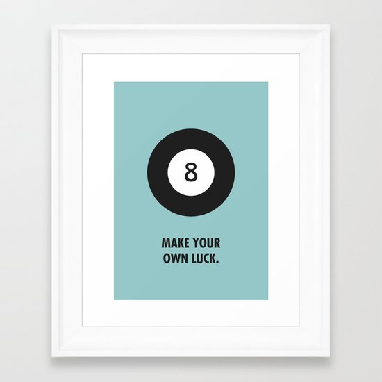 Luck. Framed Art Print