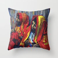 Throw Pillow featuring kuna by Cristian Blanxer