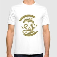 Here Comes The Son (Gold… Mens Fitted Tee White SMALL