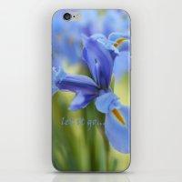 Blue Irises iPhone & iPod Skin
