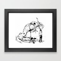 A Carnivore's Dream Framed Art Print