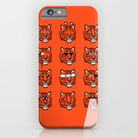 iPhone & iPod Case featuring Eyes Of The Tiger by Stuart Colebrook