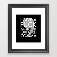 I Give A Fuck About The … Framed Art Print