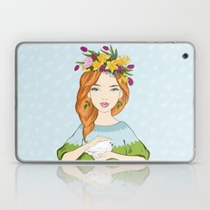 Spring girl Laptop & iPad Skin