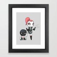 Bad Plushie Framed Art Print