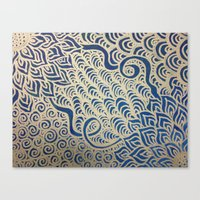 Dual Blooms Canvas Print