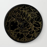 Hide (Gold) Wall Clock