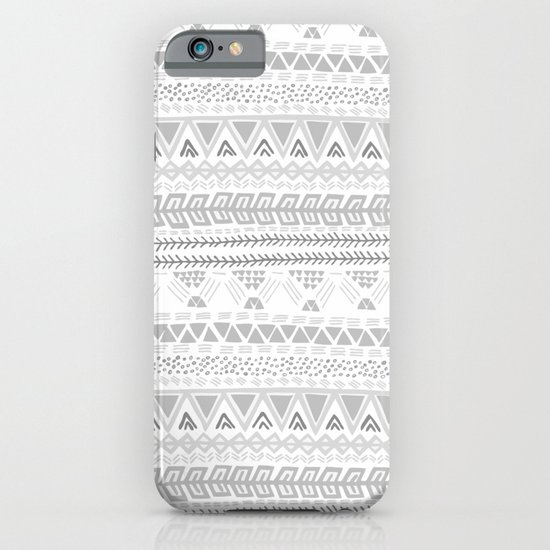 Grey aztec pattern iPhone & iPod Case