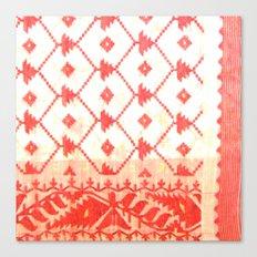 My mother's sari Canvas Print