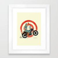 Cap Ride. Framed Art Print