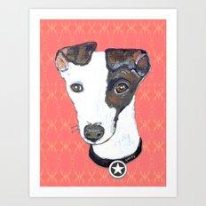 Greyhound Portrait Art Print
