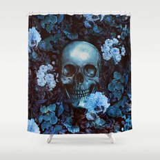 Skull and Flowers Shower Curtain