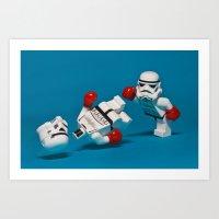 Knockout Art Print