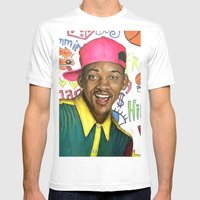 Fresh Prince of Bel Air - Will Smith Mens Fitted Tee White SMALL