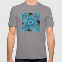 Blueish Mens Fitted Tee Tri-Grey SMALL