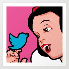 Snow Tweet Art Print