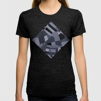 London Roads 45 Womens Fitted Tee Tri-Black SMALL