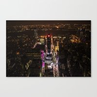 Looking down over Times Square Canvas Print