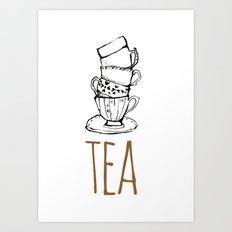 Just Tea Art Print