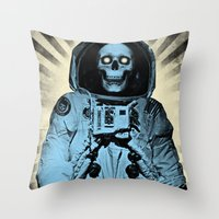 Punk Space Kook Throw Pillow