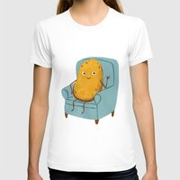 Couch Potato Womens Fitted Tee White SMALL