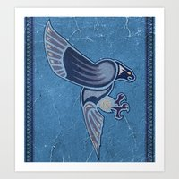 Aboriginal Hawk Wings Attack Art Print