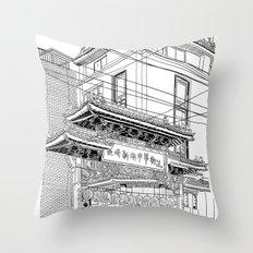 Nagasaki - China Town Throw Pillow